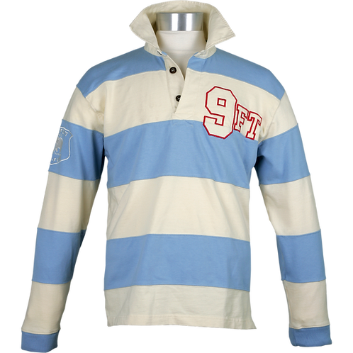 TWO COLOURED STRIPED RELAXED FIT RUGBY SHIRT