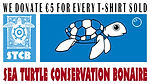 Buy a shirt and Ninefoot will donate € 5 to the Sea Turtle Conservation Bonaire