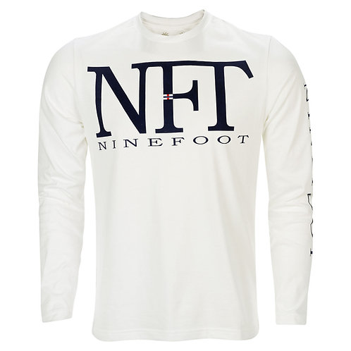 White Long Sleeved T-Shirt NFT Front View