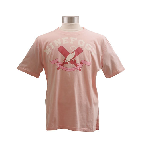 Pink T-Shirt Flamingo Cricketeers Front View
