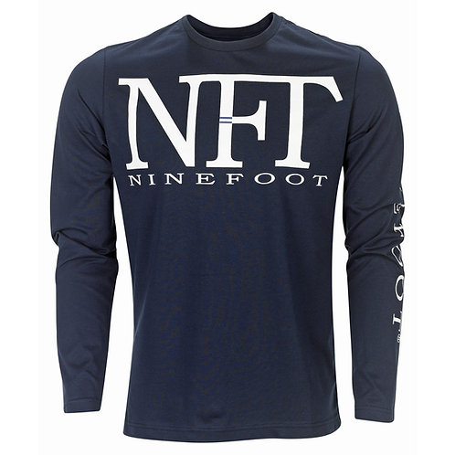 Blue Long Sleeved T-Shirt NFT Front View