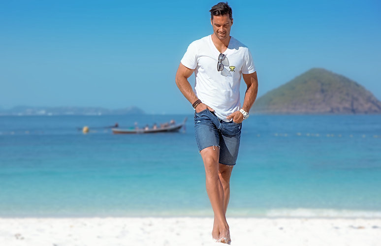 Man-White-V-Neck-Beach-Walking(1).jpg