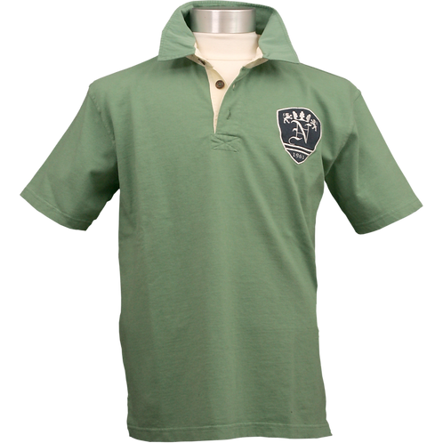 RELAXED FIT GROEN RUGBY POLOSHIRT