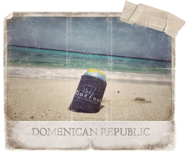 Ninefoot Koozie stubbie holder on Domenican-Republic