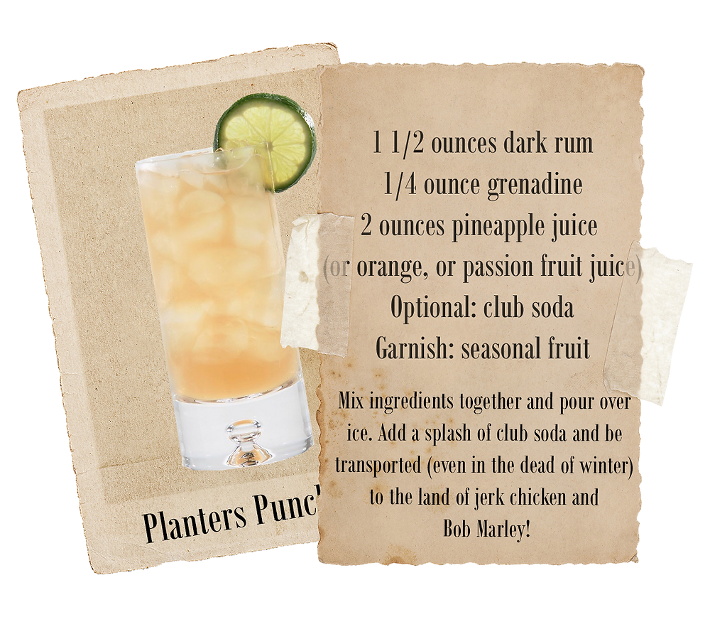 Ninefoot's Planters Punch. Satisfy your thirst with this delicious cocktail and imagine yourself on a tropical island,  strolling the beach, listening to the waves..