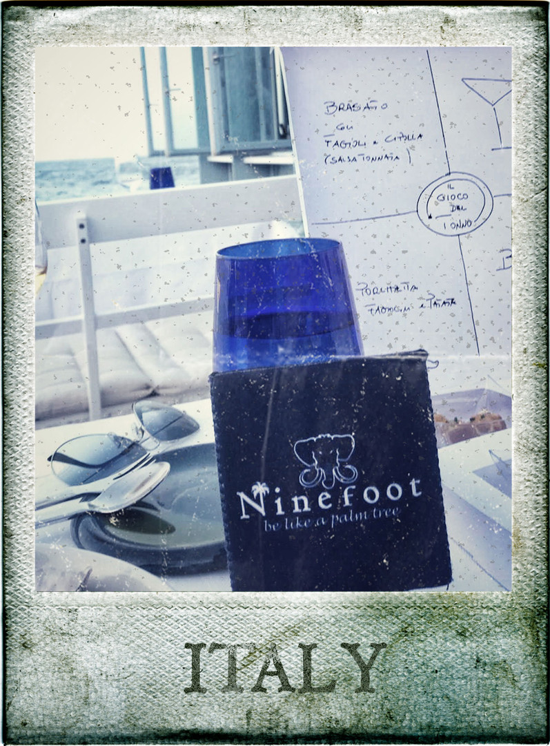 Ninefoot Koozie stubbie holder in Italy