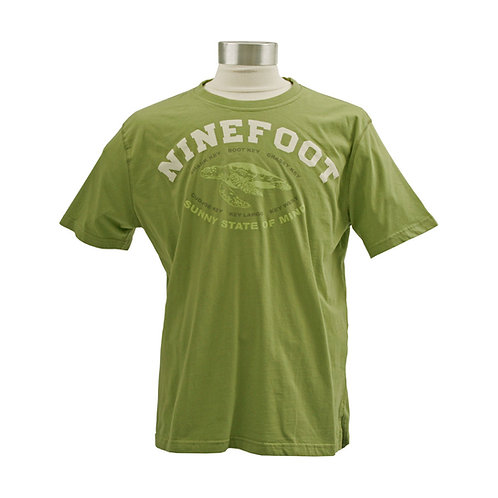 Green T-Shirt Sunny State of Mind Front View