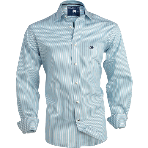 STRIPE CLASSIC FIT POPLIN COTTON SHIRT