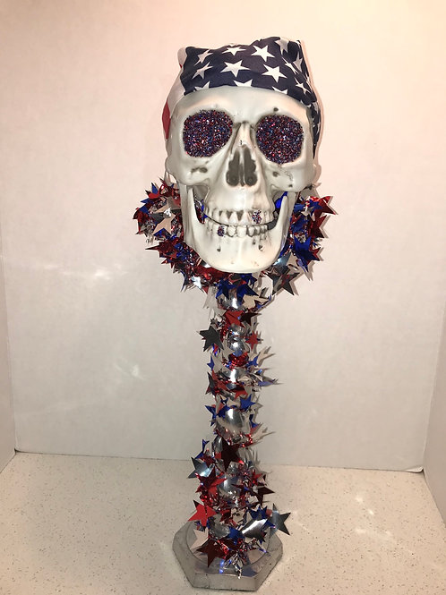 Flag Skull Candlestick