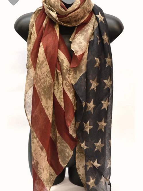 USA Vintage Flag Scarf