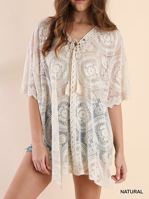 Sheer Lace Tunic - Swimsuit Cover UP