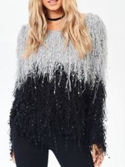 Mainstrip Fringe Sweater