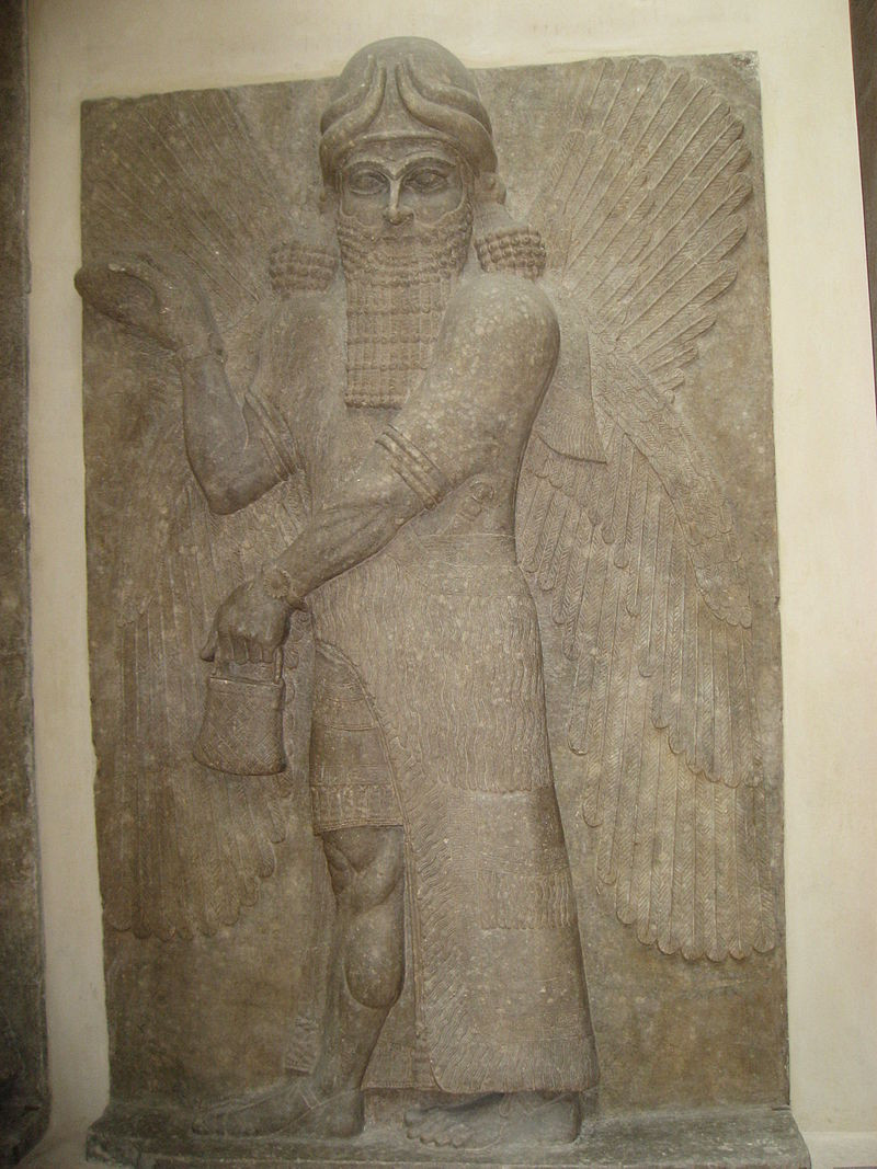 A stone stele of the Mesopotamian king of the gods, Marduk