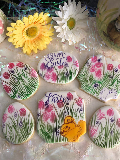 Air Brushed Easter Cookies