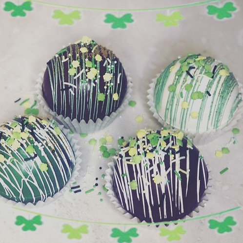 St Patrick's Day Cocoa Bombs