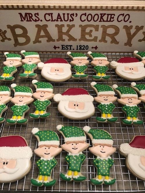 Elves & Santa Cookies