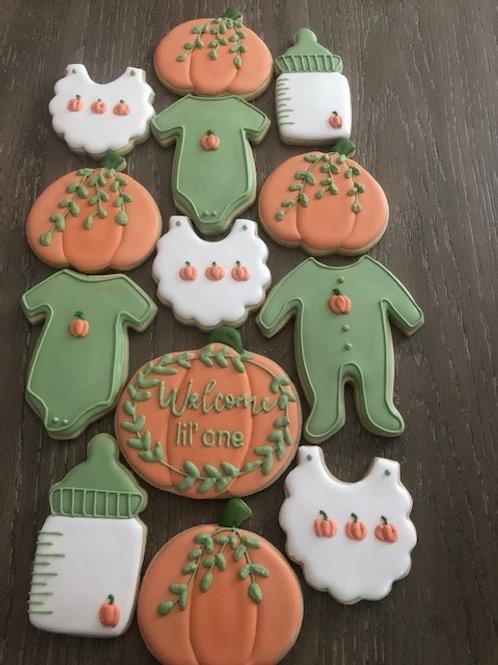 Baby Pumpkin Cookies - Green