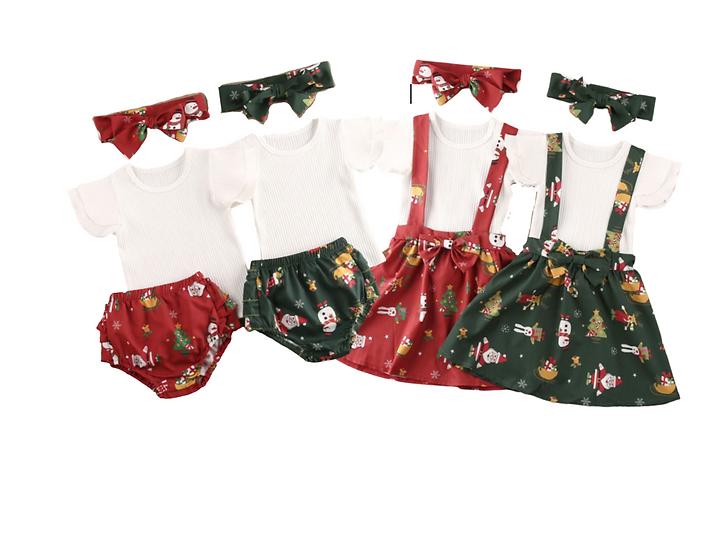 Jingle Bows Bloomer/Dress Set