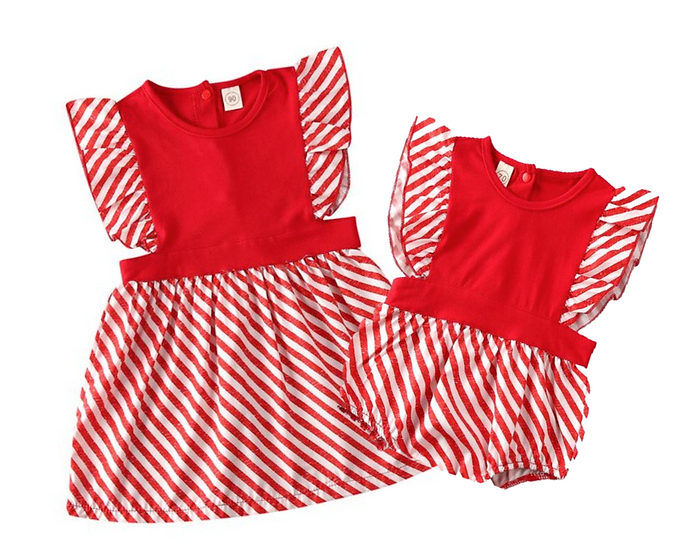 Candy Stripe Romper/Dress
