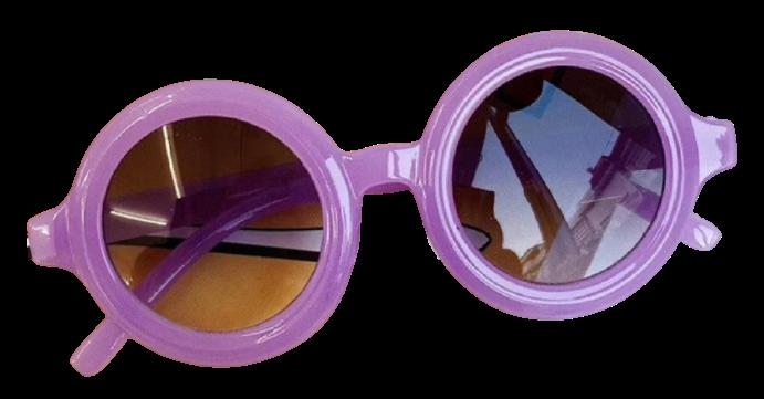 Round Sunglasses - Purple