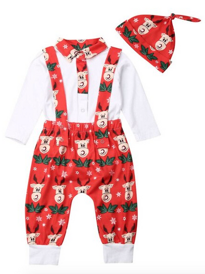Rudolph Overall Set