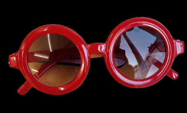 Round Sunglasses - Red