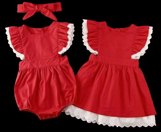 Frills & Lace Romper/Dress
