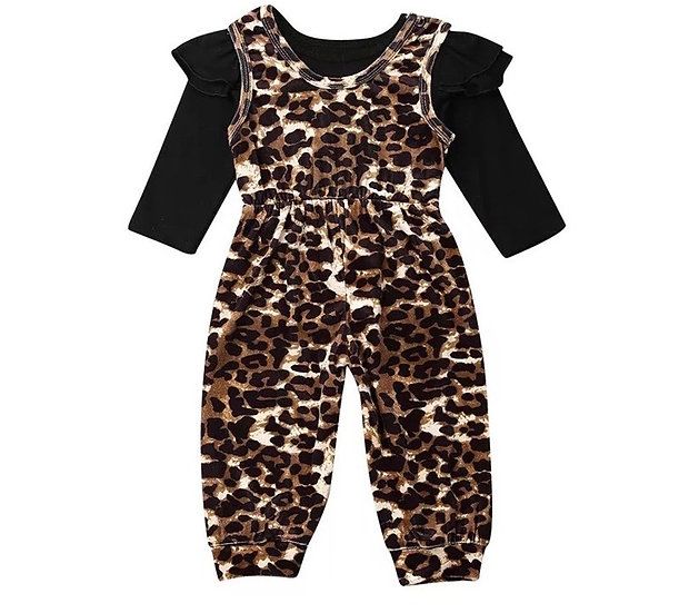 Leopard Jumpsuit Set