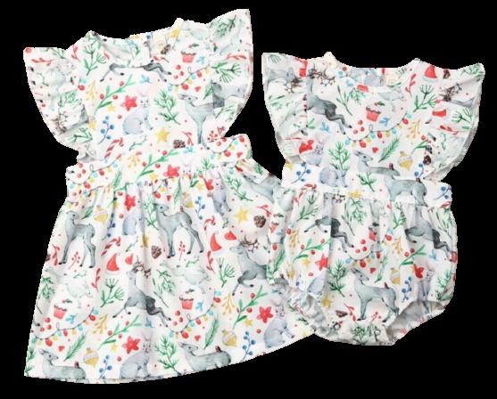 Prancing Reindeer Romper/Dress