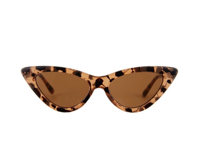 Cat-Eye Sunglasses Brown