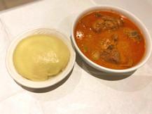 Fufu and Meat Peanut soup