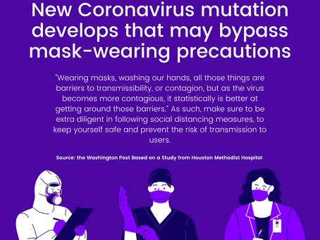 D614G Mutation of Coronavirus can Potentially Bypass Mask-Wearing Precautions