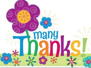 Thank You, Volunteers