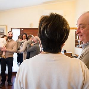 Abuelos y nietitos Ciro, Lucio y Juli