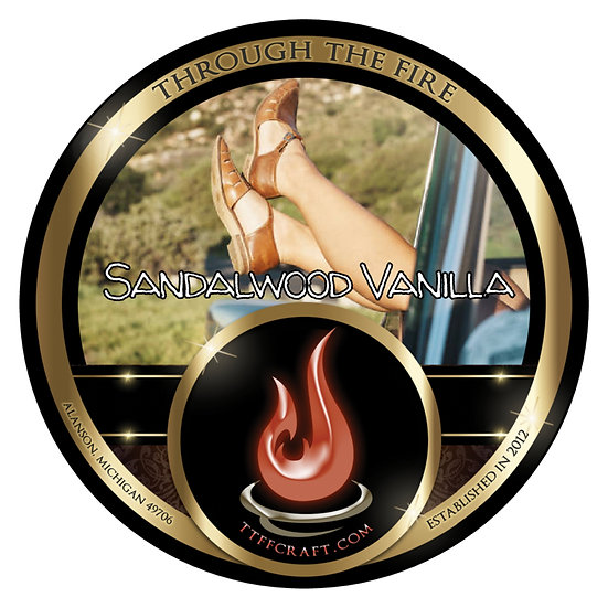 Sandalwood Vanilla Shaving Soap (High Octane Base)