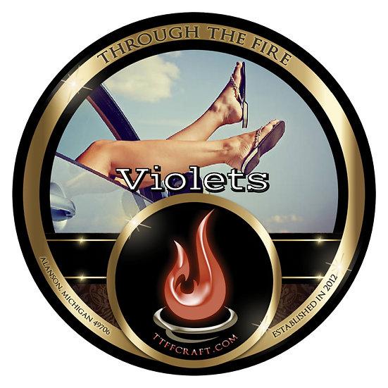 Violets Shaving Soap (High Octane Base)