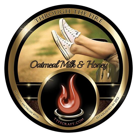 Oatmeal, Milk, & Honey Shaving Soap (High Octane Base)