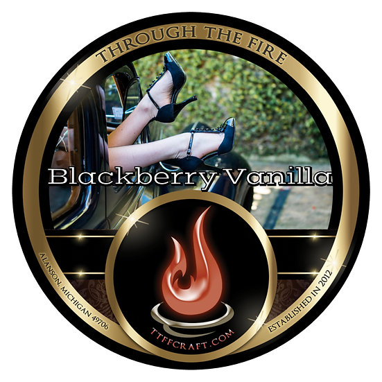 Blackberry Vanilla Shaving Soap (High Octane Base)