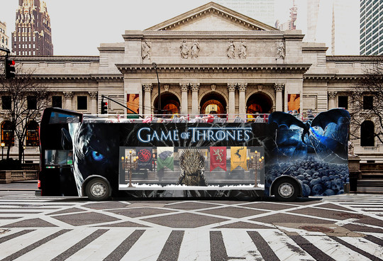 Game of Thrones Bus Design for new upcoming season release