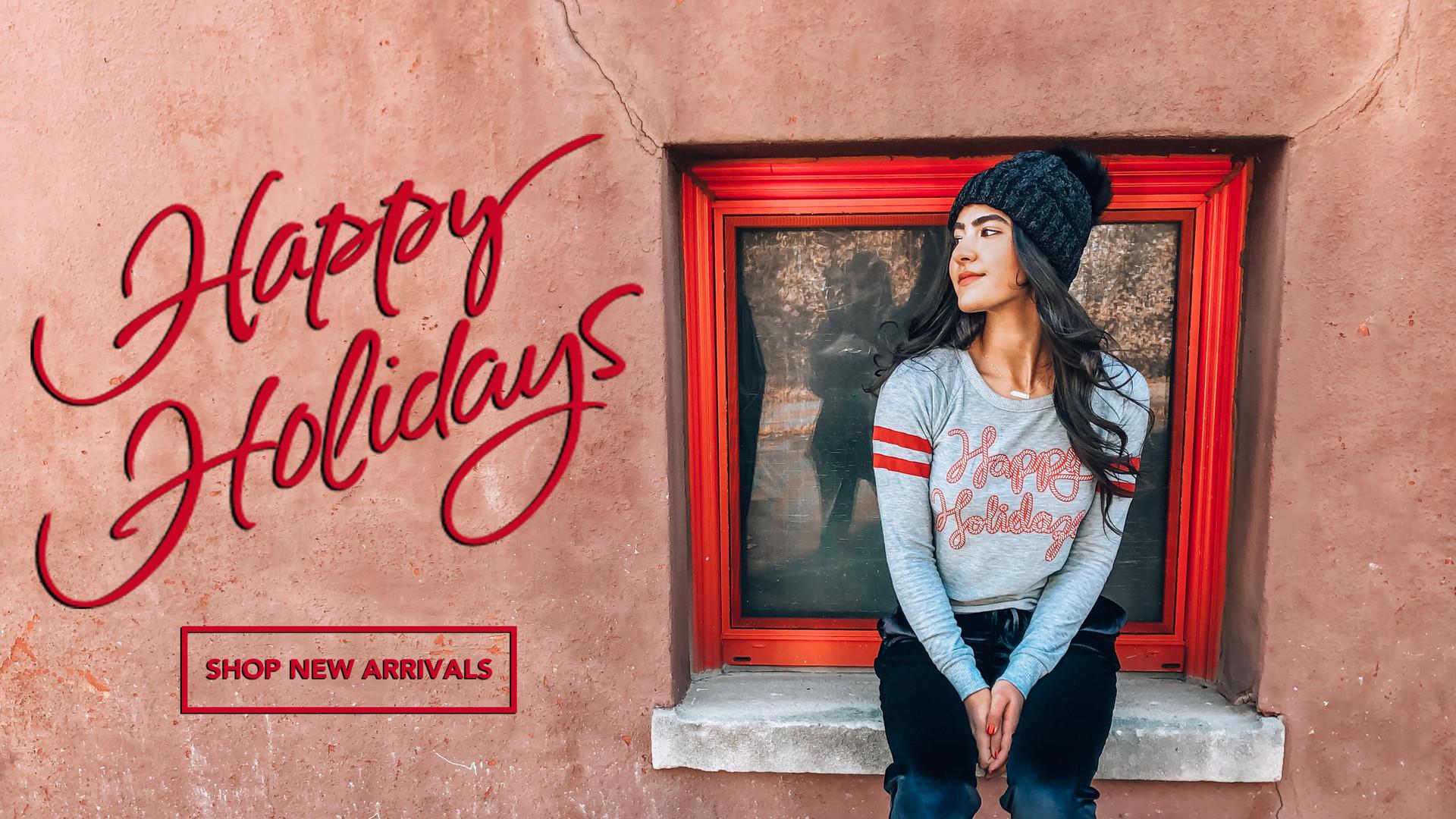 Happy Holidays Website Banner