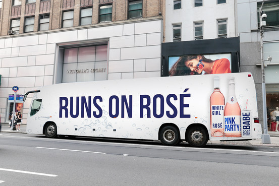 Babe Rose Hampton Jitney Bus