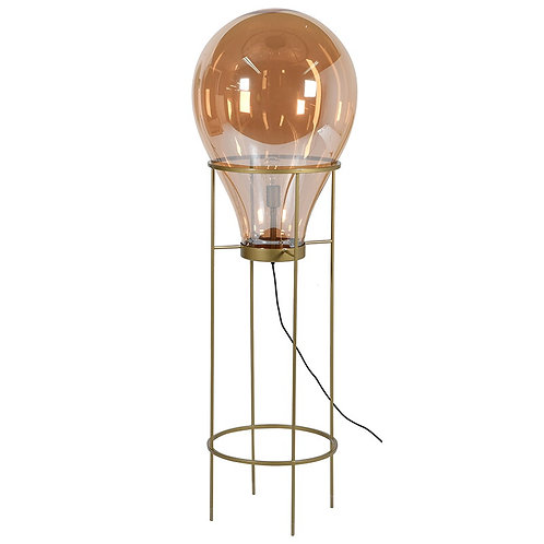 Amber Bulb Lamp on Stand