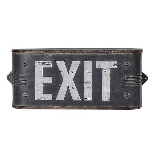 'Exit' Metal Sign