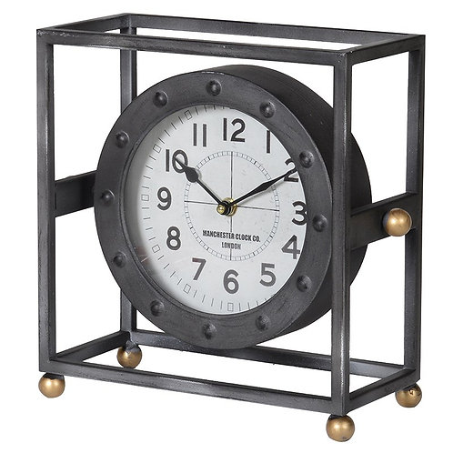 Metal Frame Mantle Clock