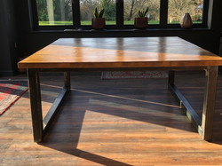 Large Iron Square Rustic Wax Table