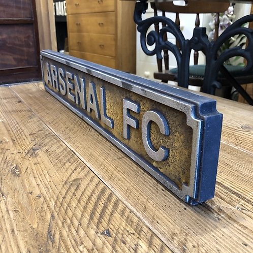 Arsenal FC Small Sign Antique Rustic Look