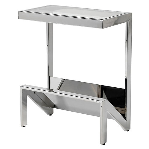 Stainless Glass Top Console
