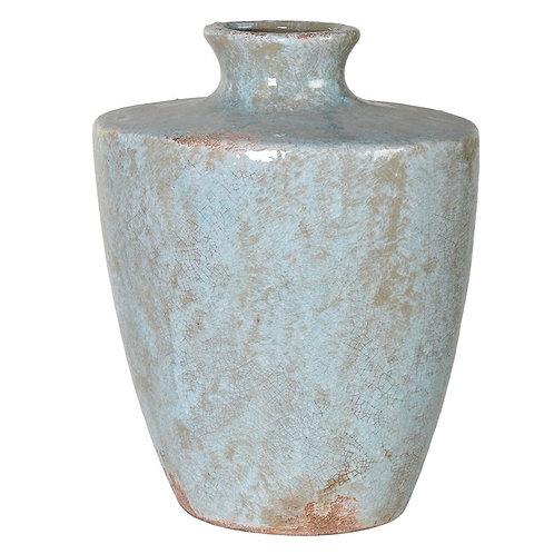 Large Blue Metallic Vase