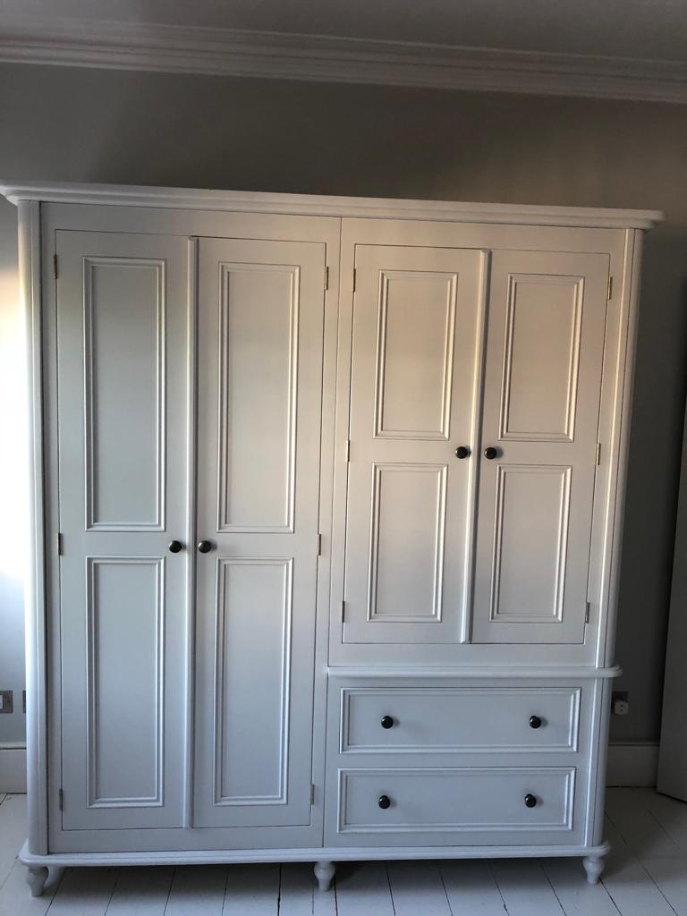 White Two Drawer & 4 Door Wardrobe