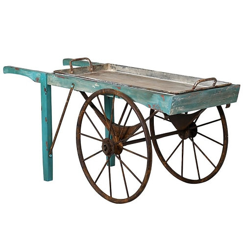 Distressed Blue Cart
